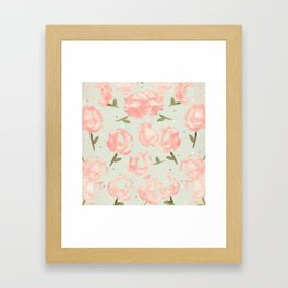 Syana's Cabbage Roses Framed Art Print