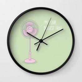 I'm Your Biggest Fan #kawaii #fan Wall Clock