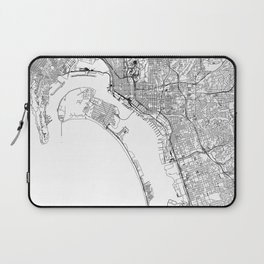 San Diego White Map Laptop Sleeve