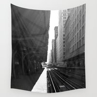 subway Wall Tapestries featuring Chicago Subway  by foureighteen
