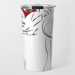 Masked Woman Travel Mug