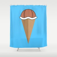 squirtle Shower Curtains featuring Choco Squirtle Shell by Adam Grey