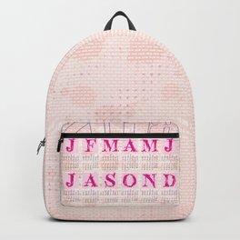 Typographic Calendar 2018 Backpack