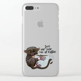 Tarsier Coffee Clear iPhone Case