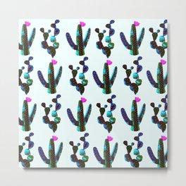 cacti watercolor Metal Print