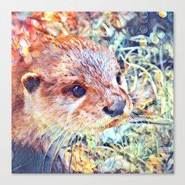 Aquarell Otter Canvas Print