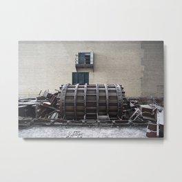 Dismantled Turbine Metal Print