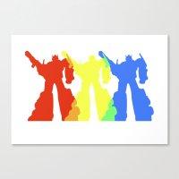 optimus prime Canvas Prints featuring Optimus Prime Colors by Christopher
