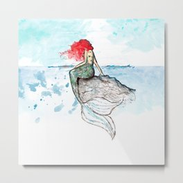 Mermaid - watercolor version Metal Print
