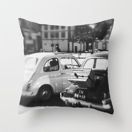 fiat 500 cars - mr & mrs Throw Pillow