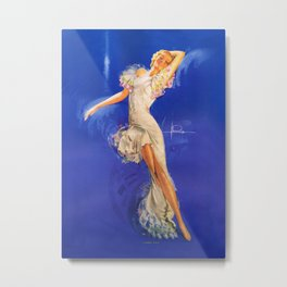 """""""Rhapsody in Blue"""" Pinup by Rolf Armstrong Metal Print"""