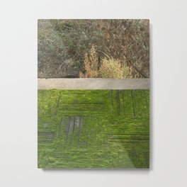 green moss abstract Metal Print