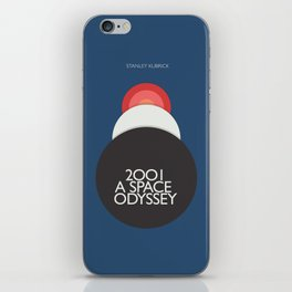 2001 a Space Odyssey, Stanley Kubrick alternative movie poster, dark blue  classic film, cinema love iPhone Skin