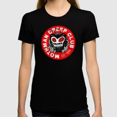 Mothman Creep Club Womens Fitted Tee Black MEDIUM