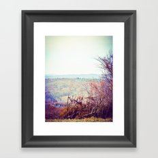 These Hills Framed Art Print