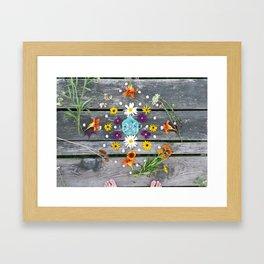 Dock Mandalla Framed Art Print
