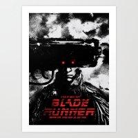 blade runner Art Prints featuring Blade Runner by Dan K Norris