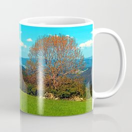 Lonely old tree in springtime scenery Coffee Mug