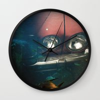 wreck it ralph Wall Clocks featuring Underwater Wreck by Lucas Brown