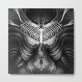 Giger Chest Metal Print