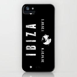 Ibiza geographic coordinates iPhone Case
