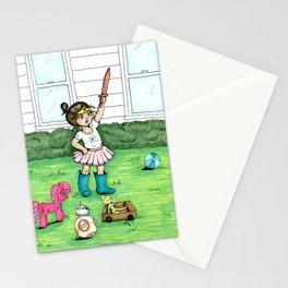 A Girl And Her Army Stationery Cards