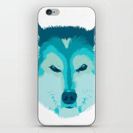 husky - wht iPhone Skin