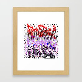 Lines and colors Framed Art Print