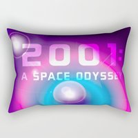 2001 Rectangular Pillows featuring 2001 a Space Odyssey by Scar Design