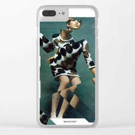 Collage Vintage Clear iPhone Case
