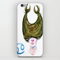 cancer iPhone & iPod Skins featuring Cancer by Aloke Design