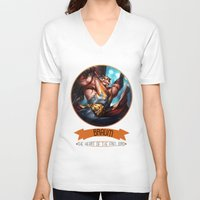 league of legends V-neck T-shirts featuring League Of Legends - Braum by TheDrawingDuo