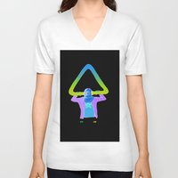 return V-neck T-shirts featuring The Return by -gAe-