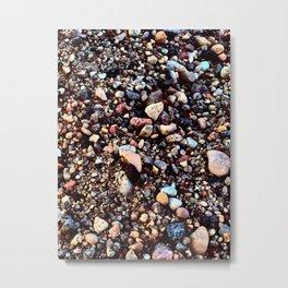 Pretty Pebbles Metal Print