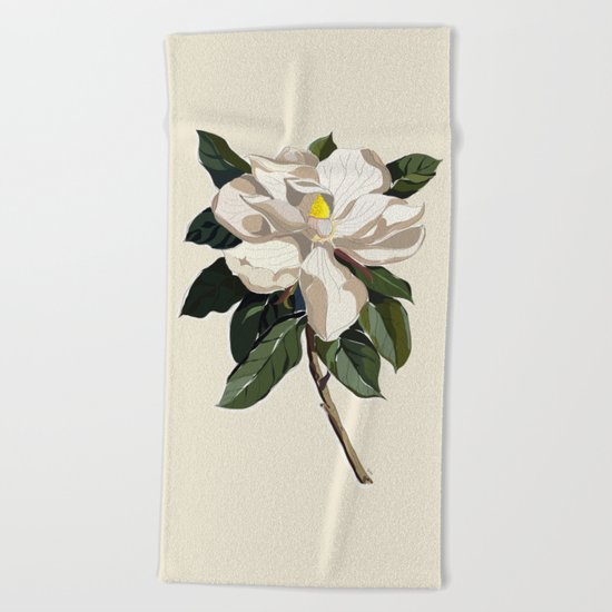 Within a Flower Beach Towel