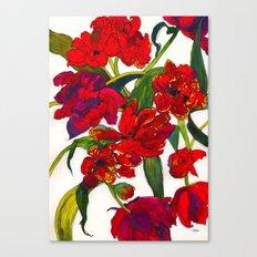 Inky Tulips Canvas Print