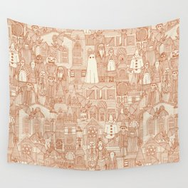 vintage halloween rust ivory Wall Tapestry