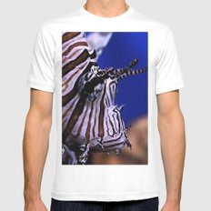 Lion fish Mens Fitted Tee White MEDIUM