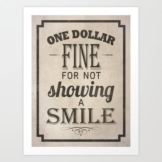 One Dollar Fine Art Print