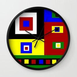 Color Block Color Crazy Retro Vibe Wall Clock
