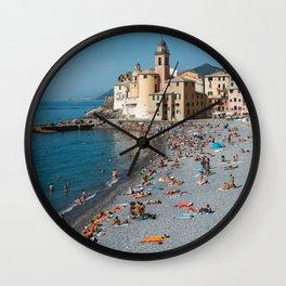 Summer is here | Amalfi coast travel photography print | Italy Art Print Wall Clock
