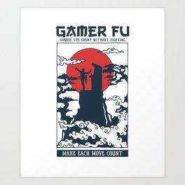 Gamer Fu Art Print