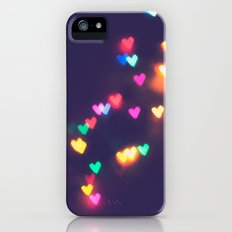 heart bokeh II Slim Case iPhone (5, 5s)