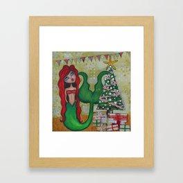 Chrismas Mermaid 2015 Framed Art Print