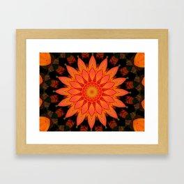 Kaleidoskop Blume Framed Art Print