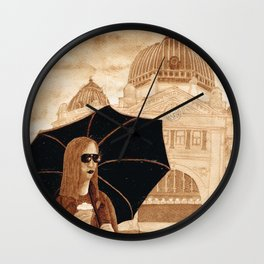 Coffee In Melbourne In Coffee Wall Clock