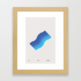 Waves - A 1960 Collection Piece Framed Art Print