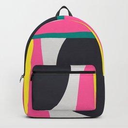 Modern Geometric 65 Pink Backpack