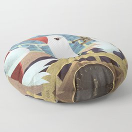 A-Z Animal, Albatross Quartermaster - Illustration Floor Pillow