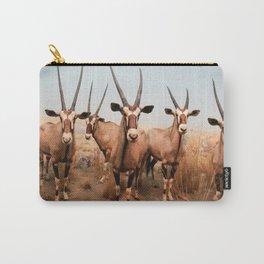 the herd at maasai mara-kenya Carry-All Pouch